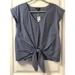 NWT | Express | Striped Knot Front Top